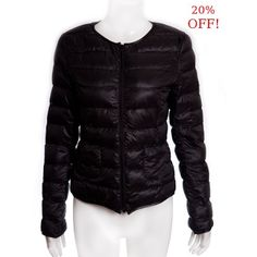 Look smart any season with this black round neck puffer jacket.The combination of zip fastening, the round neck and padding will ensure that you are cosy and stylish where ever you may adventure to. Was 39.99€ NOW 31.99€ #SALE #Clearance #Fashion #Style #Puffer