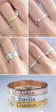 Simple Jewelry, Cute Jewelry, Jewelry Accessories, Jewelry Design, Etsy Jewelry, Handmade Jewelry, Sister Rings, Jewelry Photography, Ring Designs