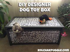 DIY doggie toy box