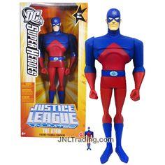 "Mattel Year 2005 DC Super Heroes ""Justice League Unlimited"" Series 10 Inch Tall Action Figure - THE ATOM with Mini Atom Figure"