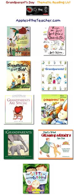 Suggested thematic reading list for Grandparents Day - Grandparent's Day books for kids.
