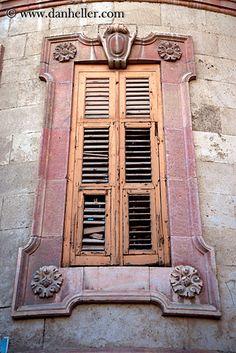 old wood window shutters, Jerusalem Old Wooden Shutters, Old Wood Windows, Window Shutters, Windows And Doors, Casablanca, Marrakech, Santorini, Asian Windows, Shutter Designs