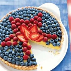 White Balsamic Custard Tart with Fresh Berry Topping @epicurious
