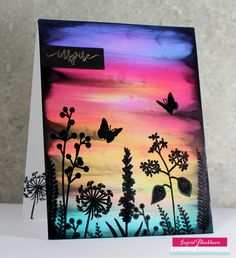 Ink Swipe Technique by Ingrid Blackburn using Wild Garden - projects & videos for the Naturally Inspired SOA Collection