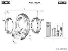 (19) WHEEL-TOOL KIT - Tasso LML Scooter Spare Parts