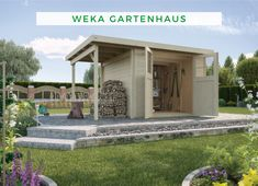 Woodfeeling 522 cm x 217 cm Gartenhaus Kerko 4 Gazebo, Pergola, Bauhaus, Shed, Outdoor Structures, Mansions, House Styles, Outdoor Decor, Garden