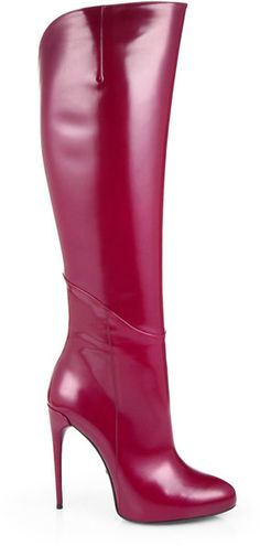 9bf48be81d19 Patent Leather Kneehigh Boots - Lyst Cute Boots