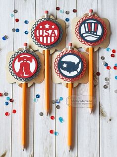 Patriotic Treat Toppers by Shelly Mercado #GiftGiving, #Favors, #Patriotic, #FourthofJuly, #TE, #ShareJoy