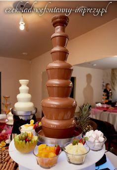Najwyższa fontanna 7 kaskadowa z zapasem aż 10kg czekolady :) www.czekoladowefontanny-imprezy.pl