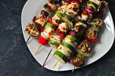 Grilled Chicken Kabobs w/ Herb Marinade — an easy and healthy summertime dinner via @Matty Chuah Corner Kitchen