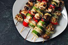 Grilled Chicken Kabobs w/ Herb Marinade — an easy and healthy summertime dinner via @Matt Valk Chuah Corner Kitchen