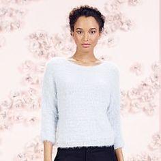 LC Lauren Conrad Runway Collection Eyelash Boatneck Sweater - Women's