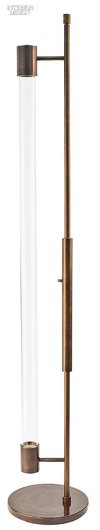 Carbonell Design Studio's Viluma floor lamp in glass and brass with oil-rubbed bronze finish by Atelier Gary Lee.