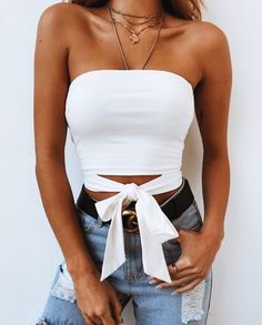 36 Cute Outfit Ideas for Summer – Summer Outfit Inspiration - Style O Check - Outfits Inspirations - Modetrends Spring Outfits, Trendy Outfits, Fashion Outfits, Fashion Trends, Denim Fashion, Outfit Summer, Fashion Women, Fashion Fall, 90s Fashion