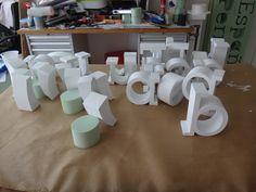 Letras Corporeas en Poliespan. Fabricación de cualquier tipografía, medida, espesor y acabado consultar. www.poliespan.com