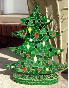 Christmas Tree Mosaic 2 by siriusmosaics, via Flickr  www.flickr.com