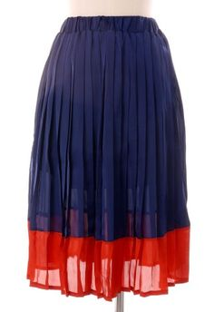 Color Block Pleated Skirt  $30