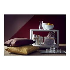 TINGBY side table on castors, white | IKEA Indonesia Kallax, Zara Home, Range Magazine, Work Lamp, White Side Tables, Table Storage, Cushion Pads, Apartment Interior, Centerpieces