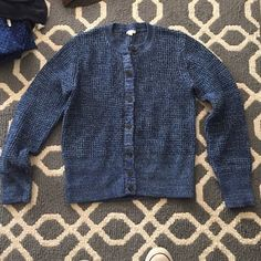 Gap blue button down sweater Gap blue button down sweater really thick and warn long sleeves and crew neck top. Only worn twice GAP Sweaters