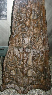 These photos are of the famous Oseberg Ship, discovered near Tønsberg, Vestfold in a burial mound that dates from 843AD, though parts of the ship date to around 800AD.