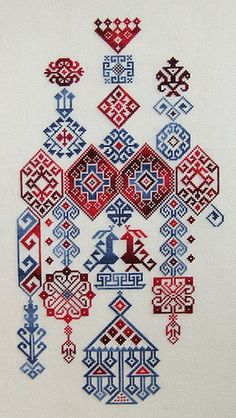 "Embroidery Stitches Designs studiomsk: "" Getting hot on embroidery. Folk Embroidery, Ribbon Embroidery, Cross Stitch Embroidery, Embroidery Patterns, Cross Stitch Patterns, Machine Embroidery, Geometric Embroidery, Blackwork, Bordado Popular"