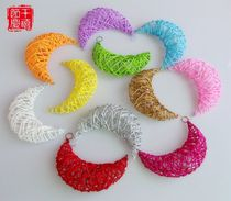 18CM rattan takraw Qing bar Mall, mid-autumn moon hanging decorations in kindergarten Christmas window decoration ball