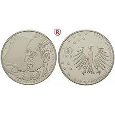 Bundesrepublik Deutschland, 10 Euro 2012, Gerhart Hauptmann, J, bfr.: Kupfer-Nickel-10 Euro 2012 J. Gerhart Hauptmann. bankfrisch… #coins