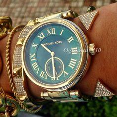9fc29c1e7798 New michael kors mk6065 skylar gold swarovski glitz ladies women s watch