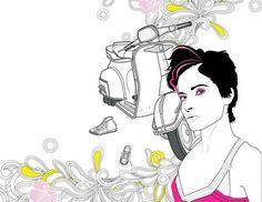 Women In Line by Chanel Fernandes, via Behance
