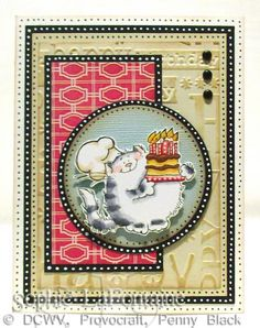 Cat birthday dots by SophieLaFontaine - Cards and Paper Crafts at Splitcoaststampers