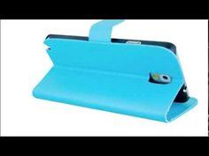 Θήκη πορτοφόλι για Galaxy Note 3 - γαλάζια