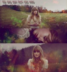"""Graphic I made using screen caps from the Taylor Swift video """"Safe&Sound""""."""