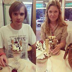 Хорошо проводим время с любимым;) Pasando un buen rato con los seres queridos en #Sirvent #sirvent #barcelona #helado #icecream #delicious #parlament56 #horchata #orxata http://www.turronessirvent.com/