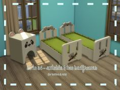 Sims 4 CC's - The Best: S3 to S4 - Animal Endtable & two Bedframes by ChiL...