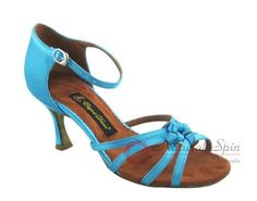 Natural Spin Latin Shoes(Open Toe):  M1117-08_Blue