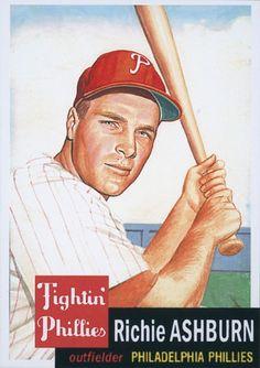 Richie Ashburn Phillies Baseball Card 1953