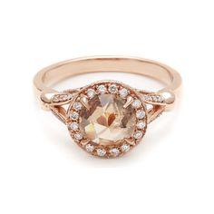 Luna Ring - Champagne Diamond – Anna Sheffield Jewelry