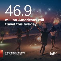 Nearly 47 million Americans will travel this #IndependenceDay, the most ever. #travelforecast www.newsroom.aaa.com Summer Travel, Amazing Destinations, Independence Day, Summertime, National Parks, Vacation, American, Diwali, Vacations