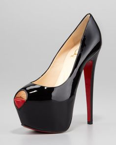 Highness Platform Red Sole Pump, Black by Christian Louboutin at Neiman Marcus.