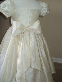 flower girl dress silk dupioni