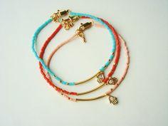 Tiny  Hamsa Bracelet   Friendship Bracelet