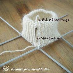 le B.A. BA en images pour tricoter des chaussettes