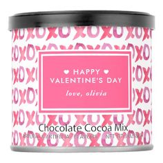 XOXO Personalized Valentine's Day Hot Chocolate Drink Mix - tap to personalize and get yours