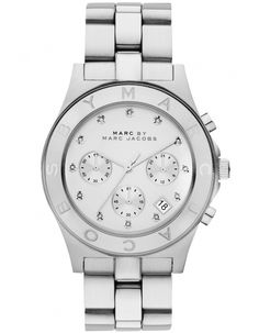 Marc by Marc Jacobs Watches Silver Blade Chronograph Watch MBM3100