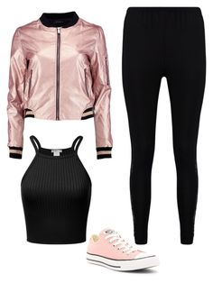 A fashion look from January 2017 featuring camisole tops, pink jacket and elastic waistband pants. Browse and shop related looks. Swag Outfits For Girls, Teenage Girl Outfits, Cute Swag Outfits, Girls Fashion Clothes, Winter Fashion Outfits, Look Fashion, Stylish Outfits, Really Cute Outfits, Pretty Outfits