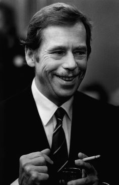 Vaclav Havel; although he'd spent his career as a playwrite, he became a political dissident in his native Czechoslovakia and became his country's last president and the first president of the Czech Republic. He serves as an icon of the Velvet Revolution.