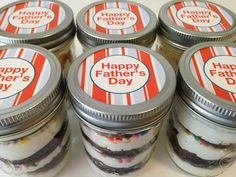 Cupcakes In A Jar-Mason Jars-Happy Father's Day-Gifts for Dad-Gifts for Grandpop-I love Dad