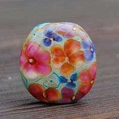 Patio Garden  1 Lampwork Focal Bead  K O Lampwork by koregon, $22.00