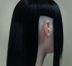 Tech goth haircut.