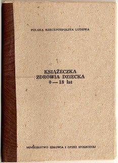 Prl Polska Dziecinstwo 60 70 Ksiazeczka Zdrowia Dziecka Kindheit 60er 70er Polen Childhood Poland Country My Childhood